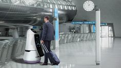 LG's new robots can help you get to your gate at the Seoul airport.