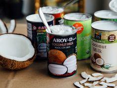Canned coconut milk + coconut cream 101 — OLC Coconut Milk Brands, Best Coconut Milk, Homemade Coconut Yogurt, Organic Coconut Milk, Coconut Whipped Cream, Canned Coconut Milk, Trader Joes Coconut Cream, Native Forest Coconut Milk, Cooking Ice Cream