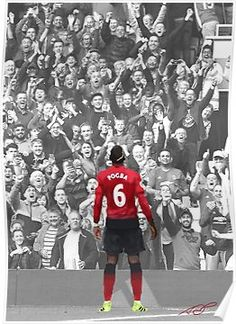 'Manchester United's Paul Pogba Poster by Webbed Toe Design's Best Football Players, Football Fans, Soccer Players, Manchester United Champions, Manchester United Players, Pogba Wallpapers, Ronaldo, Manchester United Wallpaper, Avatar Picture