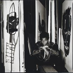 Jean-Michel Basquiat - Underground Painting - Neo Expressionism - Photo by David Bailey, Jean Basquiat, Jean Michel Basquiat Art, David Bailey, Andy Warhol, Graffiti Art, Radiant Child, Pop Art Wallpaper, Brooklyn, Outsider Art