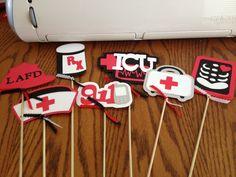 Medical Party Centerpiece Sticks By MMLKCPapercrafts On Etsy 600