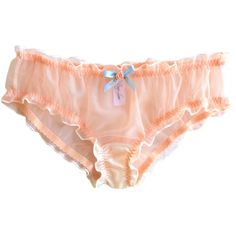 Ruffled Panty (6 Colors) ($36) ❤ liked on Polyvore featuring intimates, panties, lingerie, underwear, black, garters, hosiery, women's clothing, see through lingerie and sheer panty