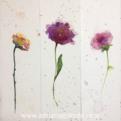 Copyright by Adriana Galindo - Bookmark / marcador de página em aquarela / marcador de livro, floral, flores flower, aquarela, watercolor, namaste, brindes, gift, crafts, wadding invitation, ideas, adrianagalindo.  Shop: drigalindo1@gmail.com