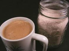 Country Cappuccino Mix - Gift In A Jar With Chocolate Drink, Milk, Powdered Sugar, Coffee Granules, Coffee Creamer Coffee Mix, Cappuccino Coffee, Cappuccino Machine, Decaf Coffee, Coffee Drinks, Coffee Break, Hot Coffee, Iced Coffee, Morning Coffee
