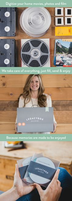 """This is truly spectacular. Legacybox is an amazing service.This is something that will be cherished and passed down. Give the Legacybox with a Kleenex box for best results."" - The Huffington Post Diy Gifts, Great Gifts, Just In Case, Just For You, Home Movies, Kleenex Box, Getting Organized, Family History, Good To Know"