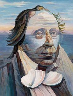Optical Illusion Art Oleg Shuplyak - Hans Christian Andersen and the Little… Más Optical Illusion Paintings, Optical Illusions Pictures, Illusion Pictures, Art Optical, Hidden Images, Hidden Pictures, Art Pictures, Photos, Illusion Kunst