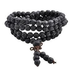 Formed from the heat of the Earth - JOVIVI - Natural Lava Rock Stone  Healing Gemstone 108 Buddhist Prayer Beads Tibetan Mala Bracelet Necklace –  All Things ... 93edbe99878c