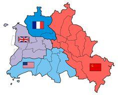 Zonas de ocupación de Berlín tras el reparto.
