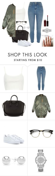 """""""Bomber"""" by baddienb ❤ liked on Polyvore featuring River Island, Givenchy, R13, adidas, Michael Kors and Vincent Longo"""