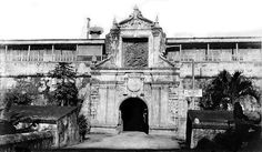 Main entrance gate of Fort Santiago, Intramuros, Manila, Philippines, early 20th Century