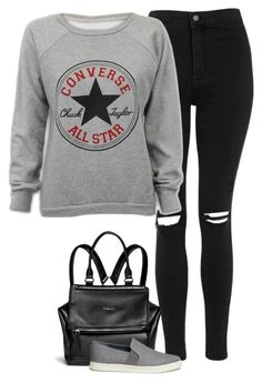 """Untitled #6962"" by fanny483 ❤ liked on Polyvore featuring Topshop, Givenchy, Vince, Converse, women's clothing, women, female, woman, misses and juniors"