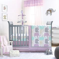 Little Peanut Crib Bedding Set In Lilac