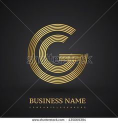Letter GG linked logo design circle G shape. Elegant gold colored letter symbol. Vector logo design template elements for company identity. - stock…