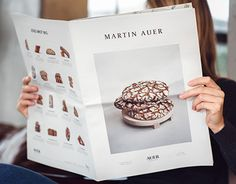 Martin Auer is a man on a mission. To make the impossible possible. And all while baking the best breads in town. In the new Martin Auer Magazine, his philosophy of giving the bread its soul back should be clearly visible; in a medium that would raisethe… Menu Design, Book Design, Layout Design, Print Design, Layout Inspiration, Graphic Design Inspiration, Food Inspiration, Design Editorial, Editorial Layout