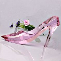 Pink Delicate Cinderella's Crystal Glass Shoe for Valentines Day