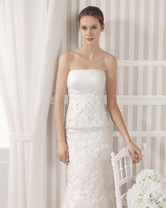 8S131 LEANA   Wedding Dresses   2015 Collection   Luna Novias (close up)