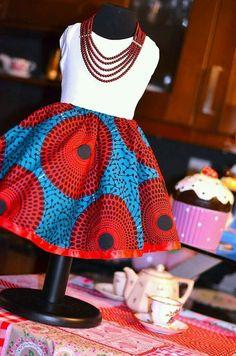 Little girl African print dress