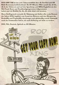 ROD XING ONE ist der erste Jahresrückblick über die Hot-Rod und 1/8 Meile Rennszene in Deutschland.  DVD, PAL, Deutsch, Spielzeit ca. 80 Minuten http://strawfish.com/shop/