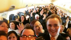 Hands up in the air! Many thanks to the great passengers! #Ryanair #dublinairport #rome #ciampino #lavazzacoffee #cabincrew #crewfie #crewlink #flightattendant #selfie #ireland @ryanair by wessel_dw
