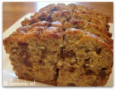 really just made this and it's my new favorite banana bread recipe. i used a box of butterscotch pudding instead of vanilla and a handful of both chocolate chips and walnuts. it really hits the spot!