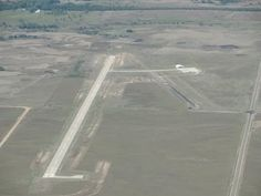 Aerial view, Comanche County Airport, south of Coldwater, Kansas.