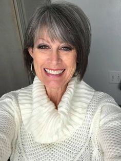 Gorgeous Salt and Pepper Short Hair Style. Gray Hair Styles. Hairstyles for women over 45, Hairstyles for women over 50, Hairstyles for women over 55, Hairstyles for women over 60, (Tamara Jones) #hairstylesforwomenover50 #Hairstylesforwomenover40 #Hairst http://eroticwadewisdom.tumblr.com/post/157383797002/2017-short-shaggy-hairstyles-for-fine-hair-short