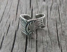 Navajo Silver American Eagle Band Ring Size 6.5, Navajo American Silver Ring, Eagle Band Ring, Women's Ring, Southwestern Ring, #Etsy USA