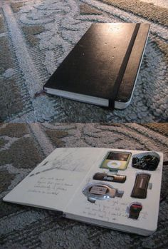 Notebook Turned into Tech Gadget Organizer