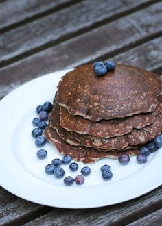 Blue Corn Blueberry Griddle Cakes with Lime Butter