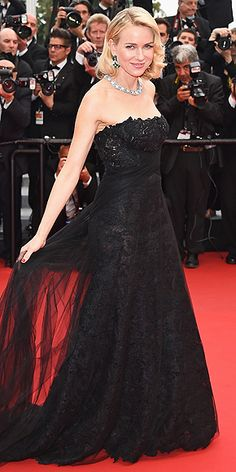The Best and Boldest Looks from the Cannes Red Carpet! | NAOMI WATTS | in a lace Ralph Lauren Collection gown at the premiere of Mad Max: Fury Road.