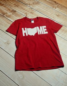 Cleveland V-Neck Tshirt Red by PiperAndStone on Etsy