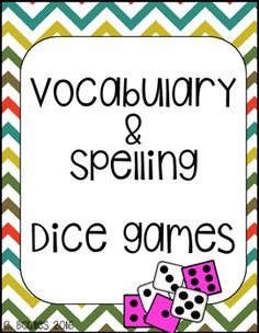 Dice game for vocabulary or spelling words!Perfect for a no-prep center!Product includes five different dice games at varying difficulties for students to work with their spelling or vocabulary words. Laminate and use year after year!