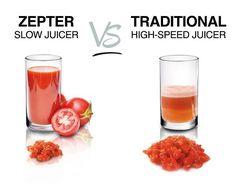 ZEPTER SLOW JUICER VS TRADITIONAL HIGH-SPEED JUICER