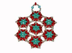 Turquoise & Red Ornament Kit