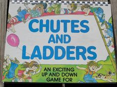 1970s Chutes and Ladders Board Game