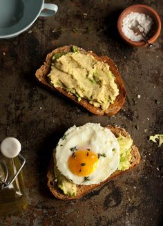 30 second 'poached' egg on smashed avo and rye toast