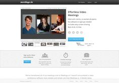 Meetings.io - Web-based - Free persistent video conferencing rooms for up to 5 people - http://meetings.io