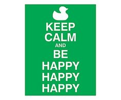Placa Decorativa Keep Calm Be Happy - 30x39cm