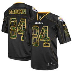 NFL Mens Elite Nike Pittsburgh Steelers http://#84 Antonio Brown Camo Fashion Black Jersey $129.99