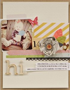 Like the border...would use some crazy patterned paper for that, something I normally would not use that much of!