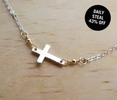 Hanging Cross Necklace