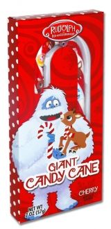 Rudolph Jumbo Candy Cane: The perfect stocking stuffer. #Rudolph #ShineBright