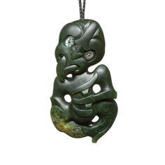 New Zealand Greenstone Large Traditional Maori Hei Tiki Necklace Nz Art, Maori Art, Bone Carving, Indigenous Art, Statue, Green Stone, Rocks And Minerals, Three Dimensional, Hand Carved