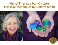Hand Therapy for Knitters - Massage Techniques by Colette Smith.