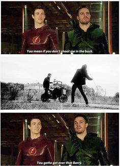"""The Flash vs Arrow """"You gotta get over that, Barry."""""""