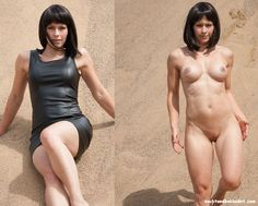 frauen bekleidet nackt