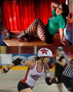 #Rollerderby 2007 vs. 2016 You've come a long way Baby.