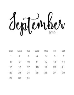 We are bringing here September 2019 Calendar Page PDF Word Excel Portrait Landscape formats. Also, Check free printable 2019 calendar templates and holidays