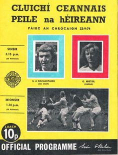 1974 All Ireland Final Dublin v Galway official programme Dublin, Programming, Ireland, Posters, Sports, Books, Hs Sports, Libros, Book