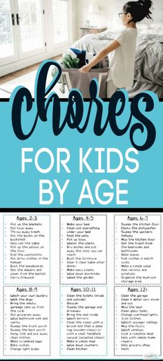 PERFECT list of Age Appropriate Chores for kids developed by a child therapist & teacher. These Age appropriate chores for young children & older children (tweens & teens, too) is great because it gives the age for the chores for kids. Chores teach k Chores For Kids By Age, Age Appropriate Chores For Kids, Children Chores, Kid Chores, Toddler Chores, List Of Chores, Chore Charts For Older Kids, Tween Chore Chart, Kids Chore List